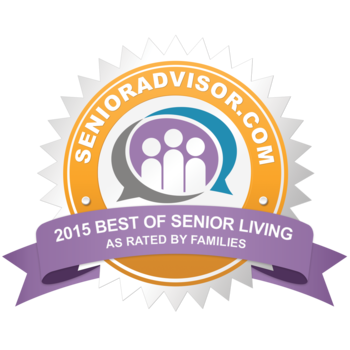 SeniorAdvisor.com 2015 Best of Senior Living Award